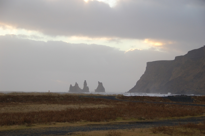 Reynisdrangar seen from Vik, South Iceland